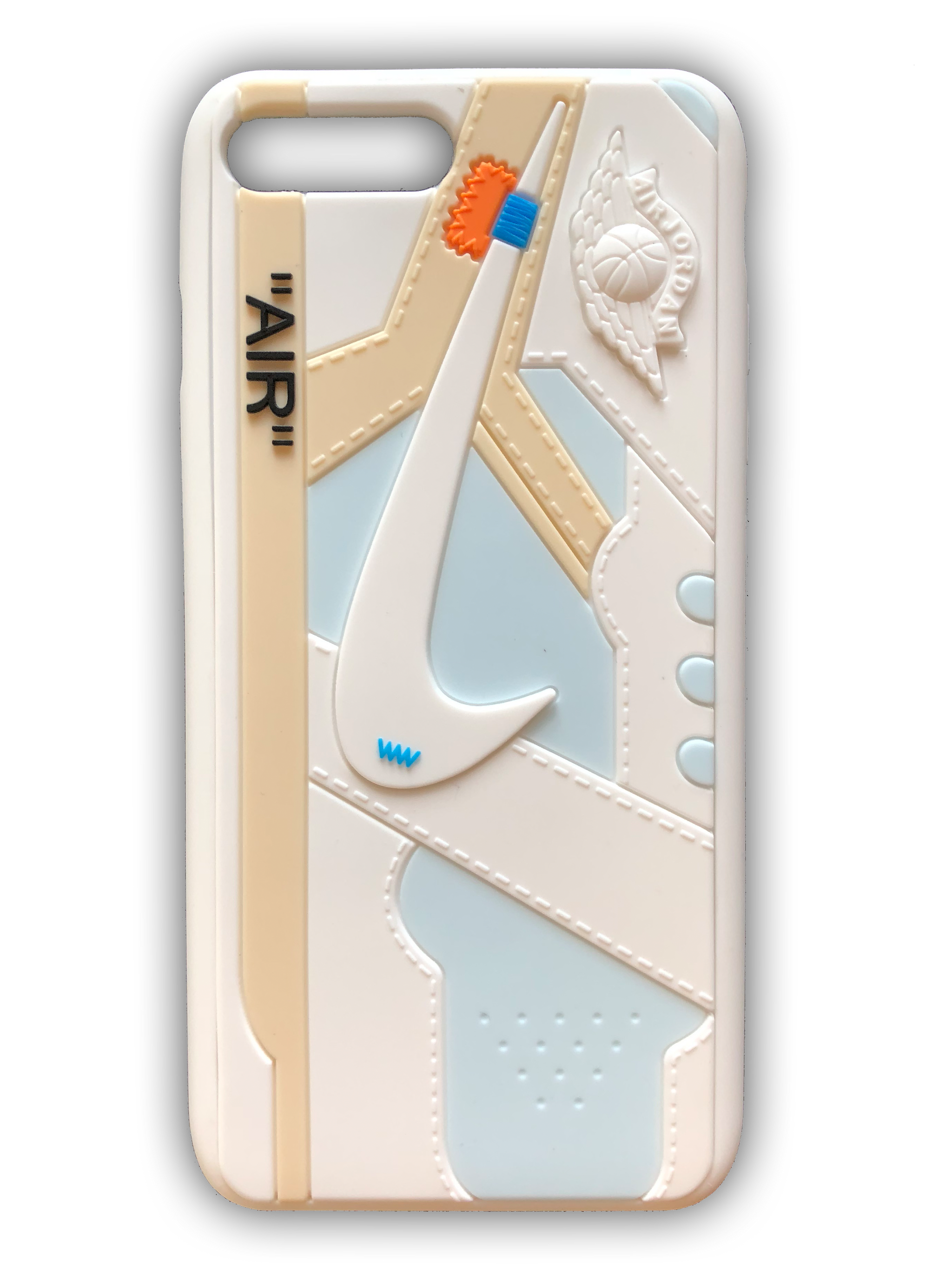 the best attitude ed827 20624 OFF-WHITE 3D Textured iPhone Case - White