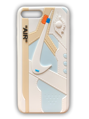OFF-WHITE 3D Textured iPhone Case - White