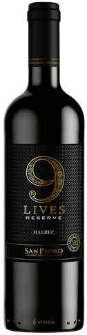 9 Lives Malbec Reserve by San Pedro 750ML