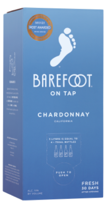 Barefoot On Tap Chardonnay 3.0LT Box Wine