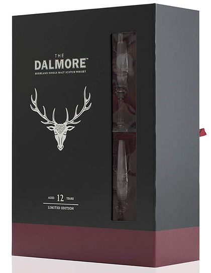 The Dalmore Single Malt Scotch Whisky 12 Year Old Gift Set w/ 2 Glasses 750ML