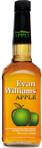 Evan Williams Apple Kentucky Straight Bourbon Whiskey Blended with Apple Liqueur