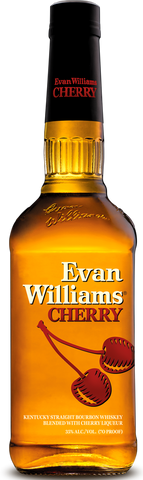 Evan Williams Cherry Kentucky Straight Bourbon Whiskey Blended with Cherry Liqueur