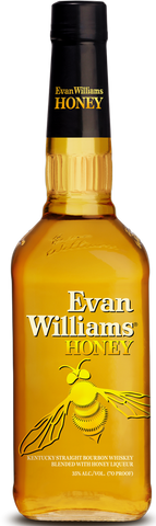 Evan Williams Honey Kentucky Straight Bourbon Whiskey Blended with Honey Liqueur