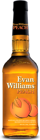 Evan Williams Peach Kentucky Straight Bourbon Whiskey Blended with Peach Liqueur