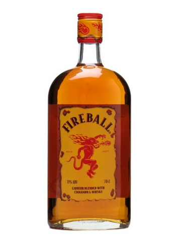 Fireball Liqueur Blended with Cinnamon & Whisky