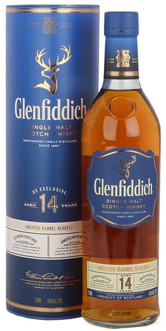 Glenfiddich Single Malt Scotch Whisky 14 Years Old Bourbon Barrel Reserve