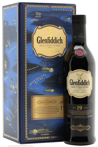 Glenfiddich Single Malt Scotch Whisky 19 Years Old Age of Discovery Bourbon Cask Reserve INVENTORY REDUCTION