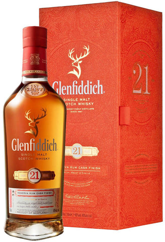 Glenfiddich Single Malt Scotch Whisky 21 Years Old Reserva Rum Cask Finish