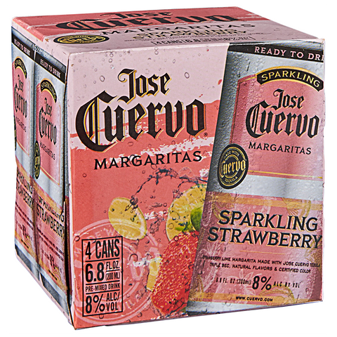 Jose Cuervo Margaritas Sparkling Strawberry 200ML Cans