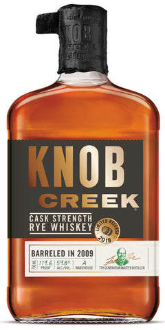 Knob Creek Cask Strength Rye Whiskey 119.6 Proof Barreled in 2009