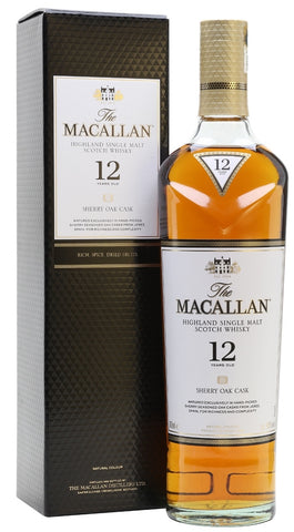 The Macallan Highland Single Malt Scotch Whisky 12 Years Old Sherry Oak Cask