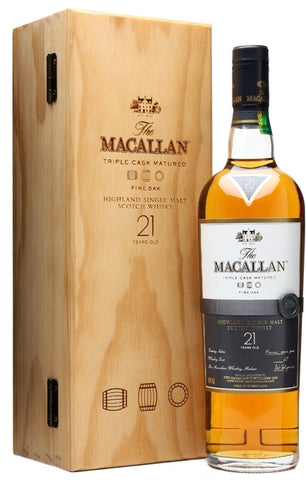 The Macallan Highland Single Malt Scotch Whisky 21 Years Old Fine Oak