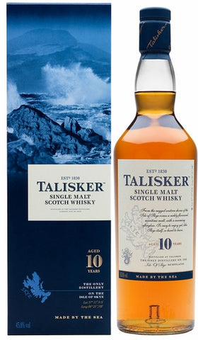 Talisker Single Malt Scotch 10 Year Old