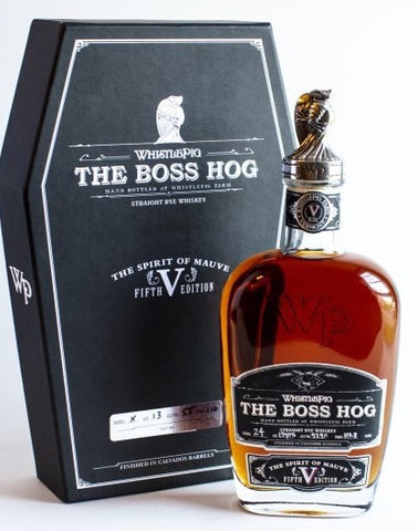 Whistlepig The Boss Hog Straight Rye Whiskey The Spirit of Mauve Fifth Edition 13 Year Od 115.8 Proof
