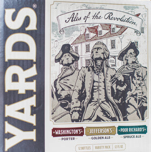 Yards Brewing Company Ales of the Revolution Variety Pack (Washington's Porter, Jefferson's Golden Ale, Poor Richard's Spruce Ale)