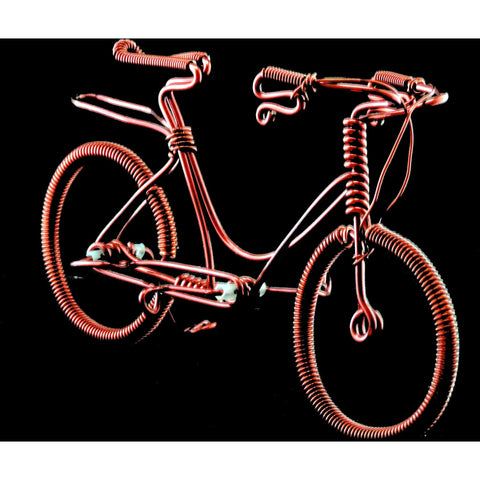 Copper Wire Bikes -10 PCS.  (Old School Schwinn)