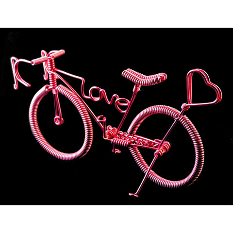 "Wire Bikes - 10 PCS. ""love"""