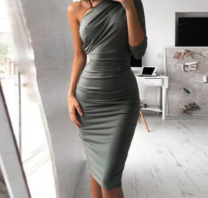 One Shoulder Party Dress (2 colors)