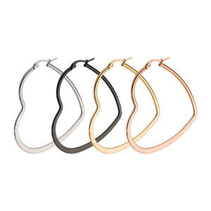 Heart Shaped Hoops (3 sizes + 4 colours)