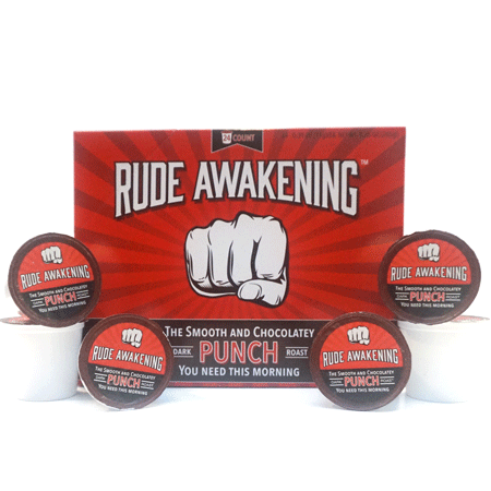 Rude Awakening High Caffeine Coffee K-Cup | 48 Count Premium Dark Roast for Single Capsule Keurig Brewers - Smooth 100% Natural Coffee with a Chocolatey Punch