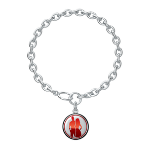 Lotus Coin Chain Bracelet - Silver