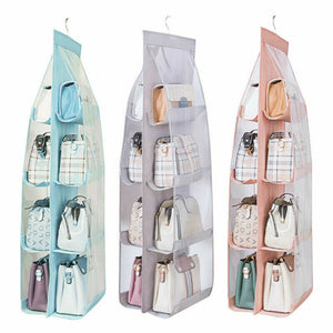 6 / 8 Pockets Handbag Hanging Closet Storage Organizer