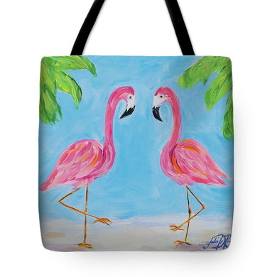 Fancy Flamingos IIi Tote Bag