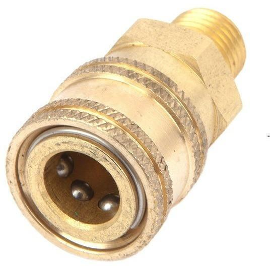 "Pressure Washer Fitting Quick Connect Male NPT 1/4"" Brass - USPressure"