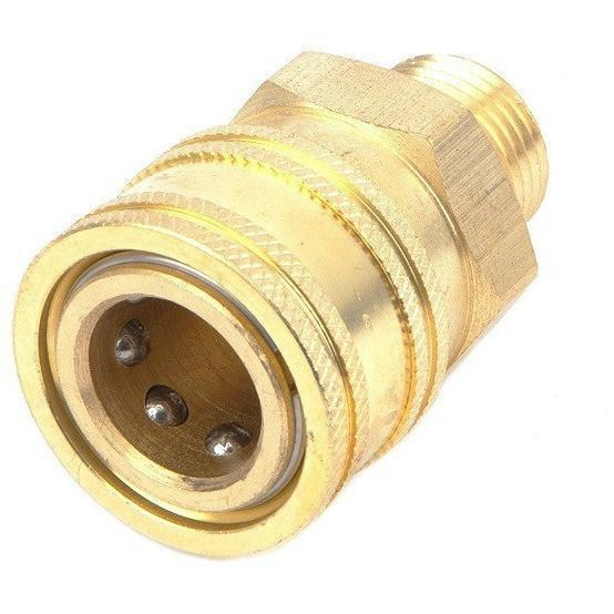 "Pressure Washer Fitting Quick Connect NPT Male 3/8"" Brass - USPressure"