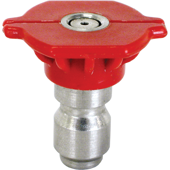 Pressure Washer Nozzle Tip 0 Degree Red Stainless - USPressure
