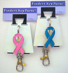 Finders Key Purse Cancer Awareness Ribbon