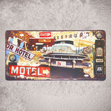 Metal Sign Car License Plate 15*30cm