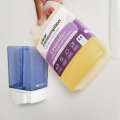 Refill foaming soap dispensers within your business facility