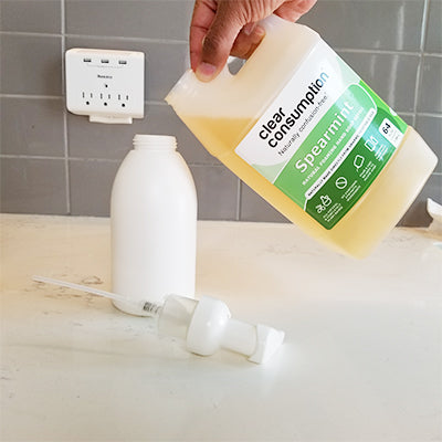 Refill foaming soap dispensers within your home