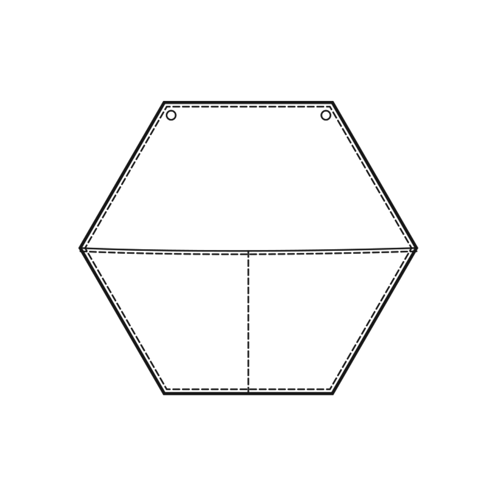 Hexagonal Wall Pouch