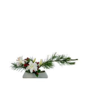 December Arrangement: Holiday Centerpiece