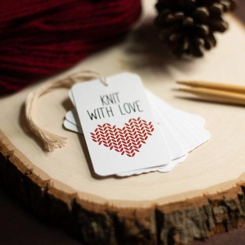 Knitting for Valentine's Day