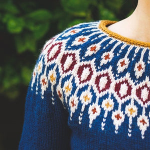 Blue fair isle knitted sweater