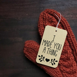Tutorial:  How to Sew a Tag on Your Knitted Gifts
