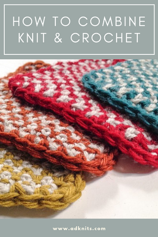 How to combine knitting and crocheting in one pattern