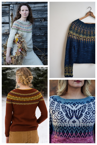 Knitting color work sweaters