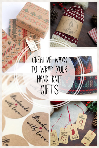 when you take the time to make someone a hand knit gift, it deserves wrapping that is at unique and creative as the gift itself!  Check out this collection of creative ways to wrap your hand knit gifts!