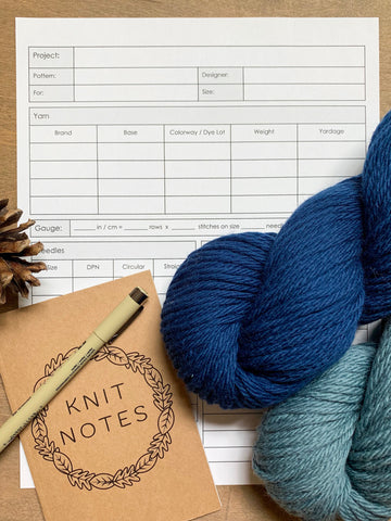 Free printable knitting organizer