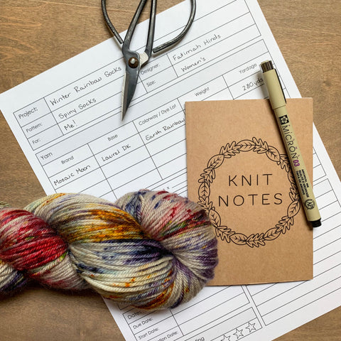 free knitting planner printable