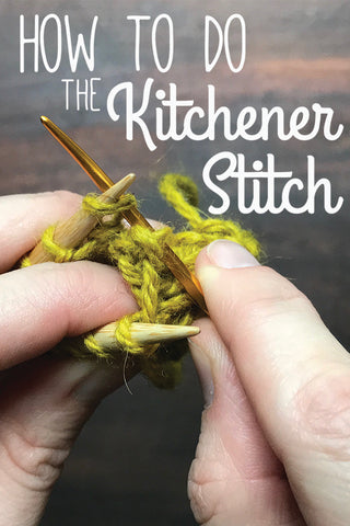 Step by step knitting tutorial on how to do the Kitchener stitch.