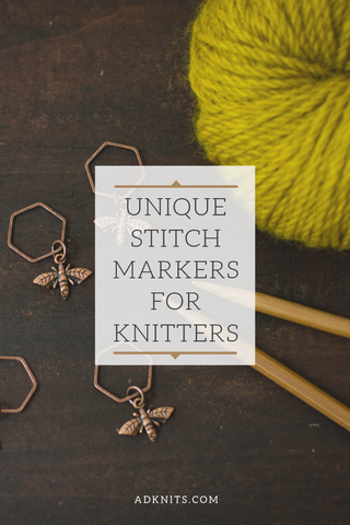 Six Unique Stitch Markers for Knitters