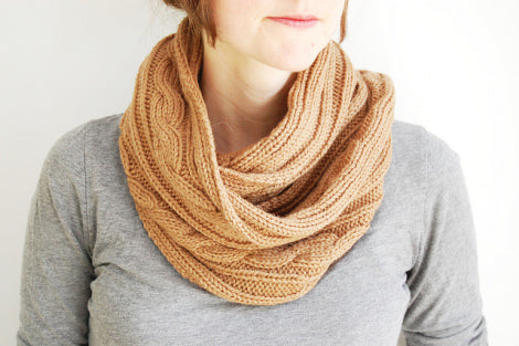 tan knit scarf