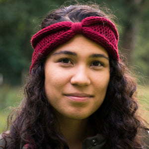 Fall Line knitted headband knitting pattern