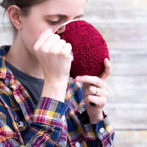 pinesap mug cozy knitting pattern